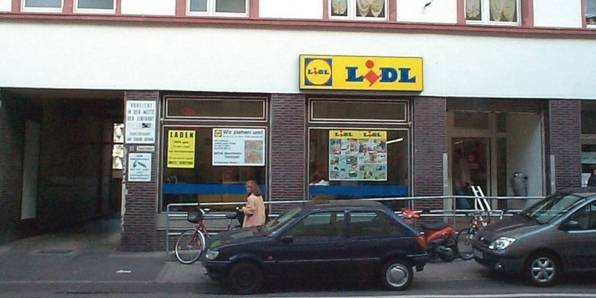 The first Lidl store, that opened in 1973
